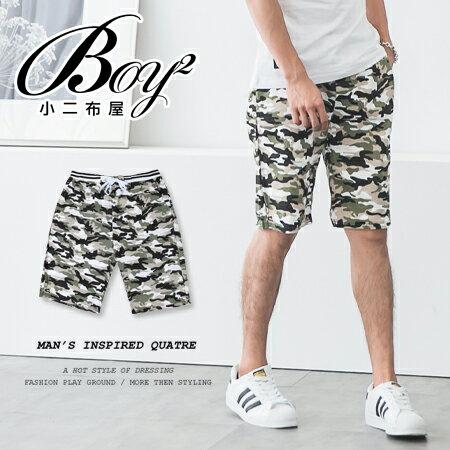 ☆BOY-2☆【JN1071】男短褲 迷彩綁帶休閒短褲 海灘褲 0