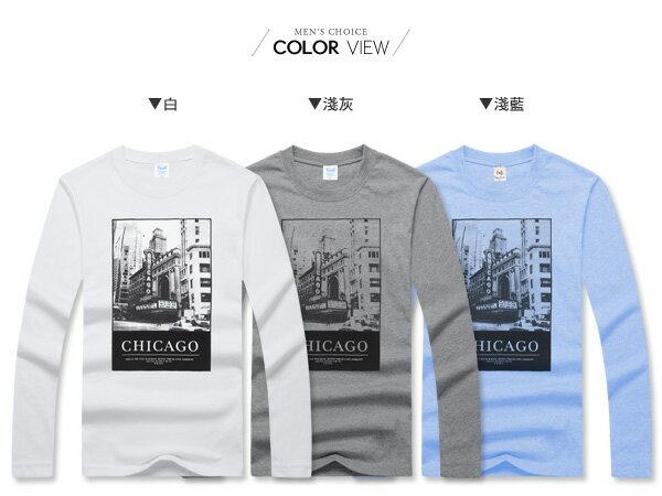 ☆BOY-2☆【PPK86136】美式潮流芝加哥黑白印花長T 1