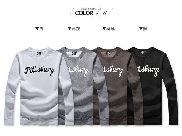 ☆BOY-2☆ 【KK6850】簡約撞色字母刷毛長袖T恤 1