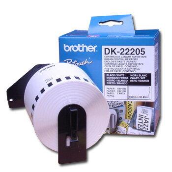 brother DK-22205 62mm耐久型紙質標籤紙(QL500/550/570/650/1050專用)  1捲入