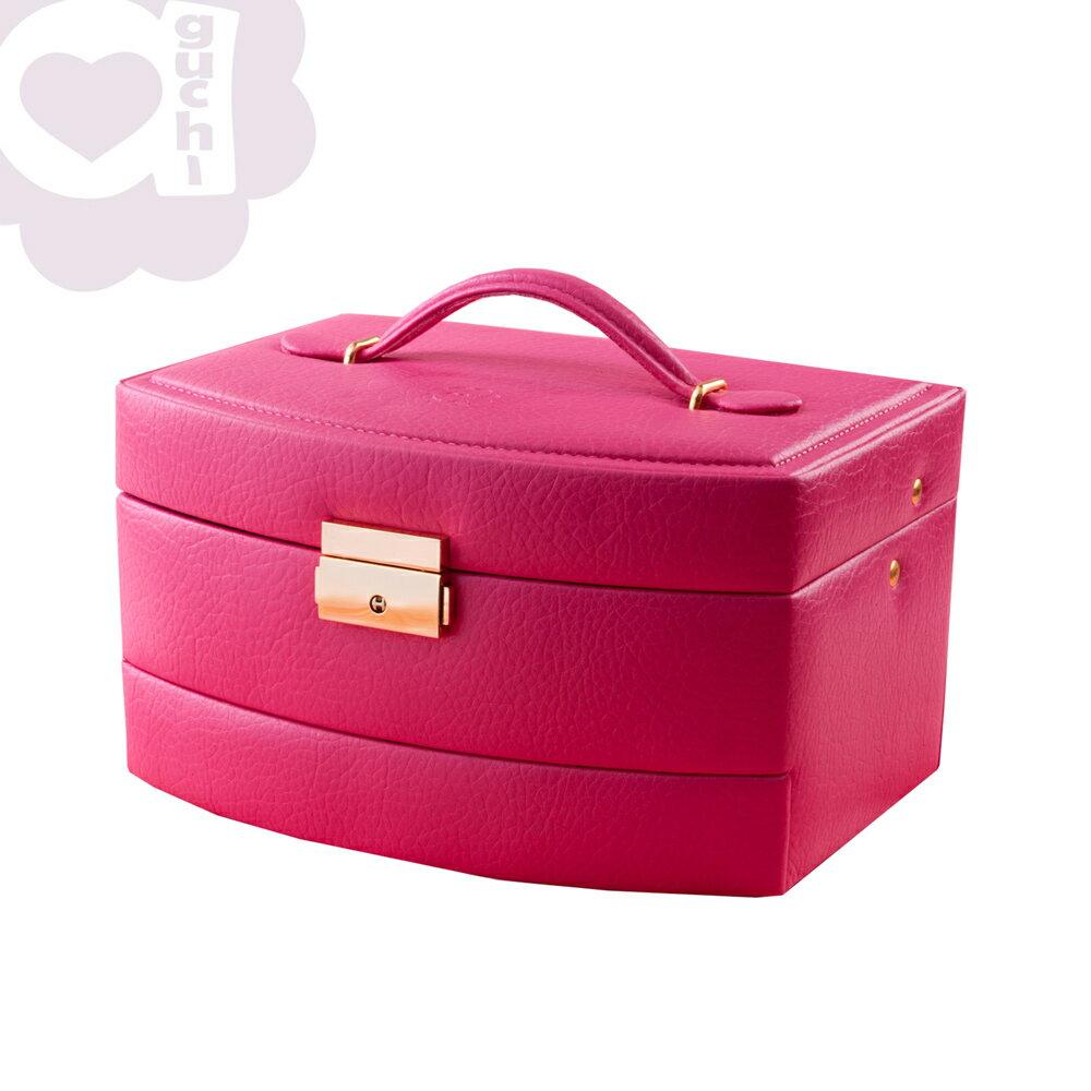【Aguchi 亞古奇】皇家風範-櫻桃紅 (氣質貴族系列) 珠寶盒 0