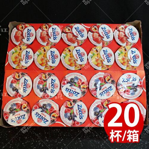 【台北濱江】zottis綜合口味優格100g/杯x20杯/箱