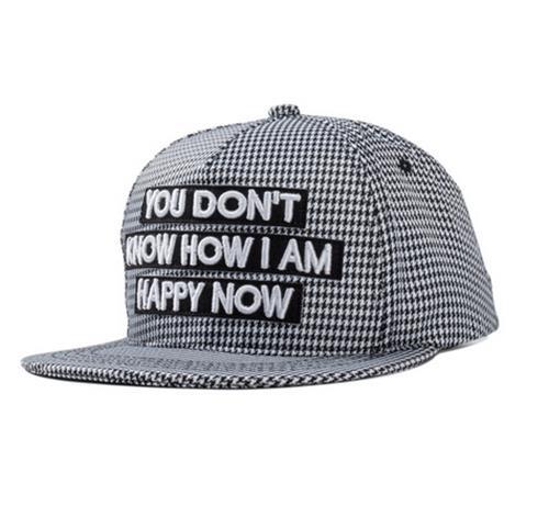 50% OFF【E03384H】貼布字母刺繡嘻哈平沿帽 格子街頭潮流帽子 棒球帽running man EXO GD A PINK T-ARA SHINEE