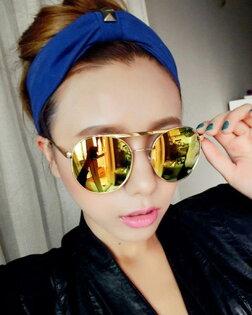 50%OFF【J003743Gls】歐美超酷反光太陽眼鏡批發潮人大圓框金屬墨鏡 附眼鏡盒 防紫外線 明星款 反光鏡面