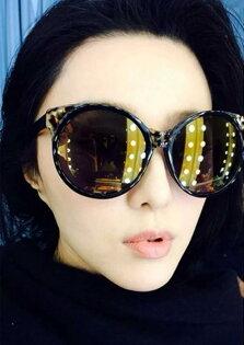 50%OFF【J003747Gls】新款性感範冰冰同款太陽眼鏡潮 附眼鏡盒 防紫外線 明星款 反光鏡面