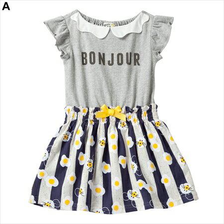 【NISSEN】童裝|荷包蛋, 老鼠圖案拼接連身裙|2款