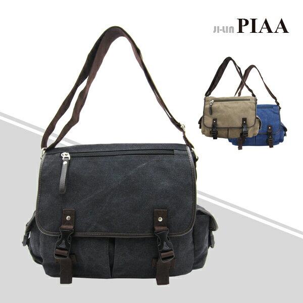 83-8190《PIAA 皮亞》橫式加蓋側肩背包 (三色)