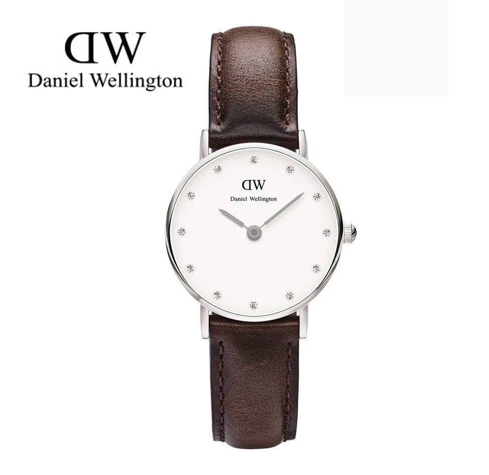 瑞典正品代購 Daniel Wellington 0923DW 銀 玫瑰金  真皮 錶帶 男女錶 手錶腕錶 26MM 0