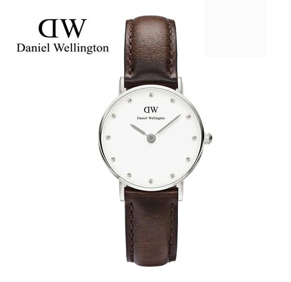 瑞典正品代購 Daniel Wellington 0923DW 銀 玫瑰金  真皮 錶帶 男女錶 手錶腕錶 26MM