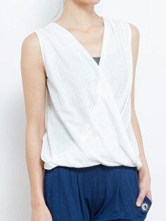 【Kyoto】100%有機棉胸前交叉背心 日本製 瑜珈服