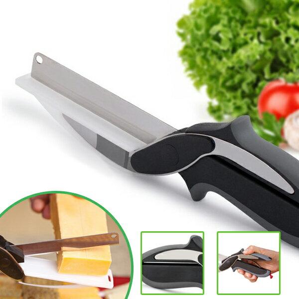 【現貨供應最低價】不銹鋼攜帶型多功能兒童食物剪刀-IF0064