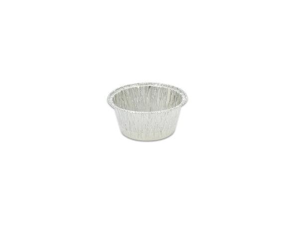 鋁箔容器、錫箔、烤模、 小布丁杯、圓形 115 (100pcs/包)(透明蓋)