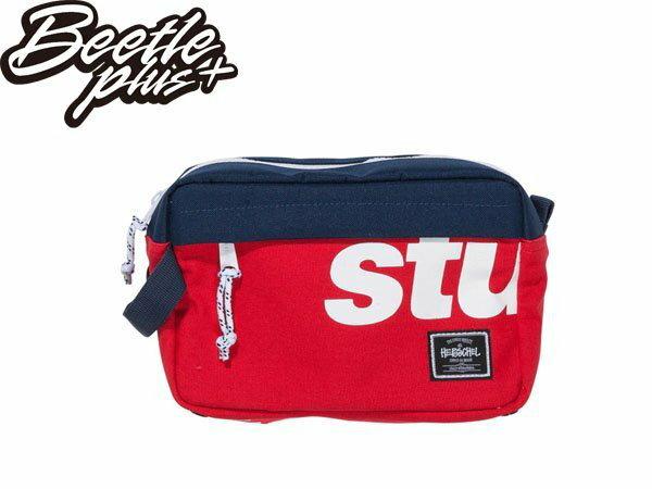 BEETLE STUSSY X HERSCHEL LOGO DOPP KIT BAG 藍紅 白紅 雙色 街頭 潮流 化妝包 手拿包 0