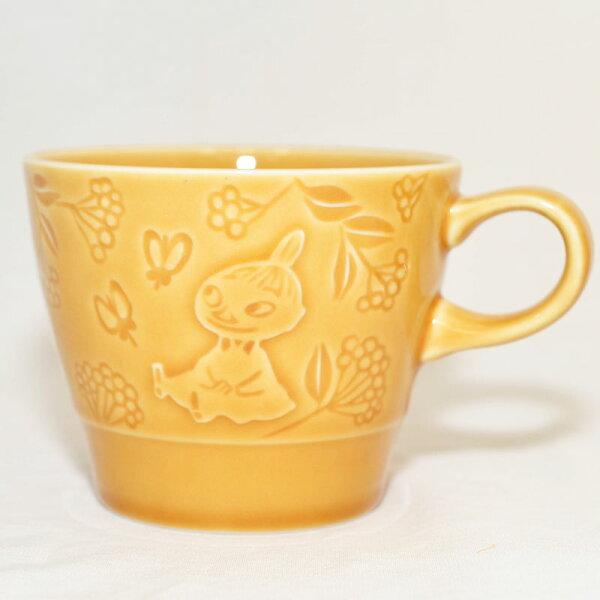 MOOMIN 嚕嚕米 小不點亞美 馬克杯 浮雕復古 陶瓷 咖啡杯 正版 日本製 Little My