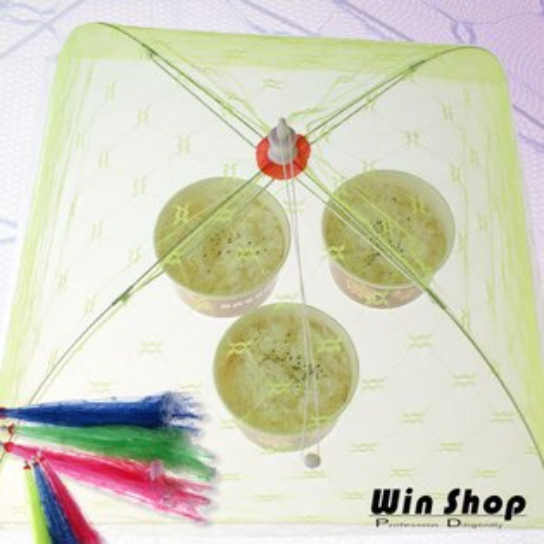 【aife life】桌上摺疊式菜罩-小/清洗容易、方便實用、操作簡單,能有效防止蚊蟲蒼蠅直接接觸食物造成細菌污染