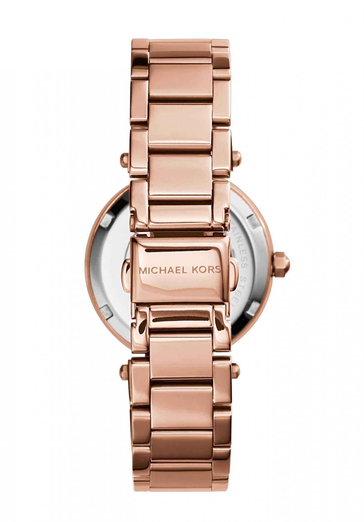 美國Outlet正品代購 MichaelKors MK  玫瑰金陶瓷 水鑽 三環 手錶 腕錶 MK5616 3