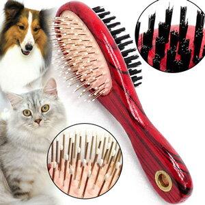 寵物雙面兩用木製梳C99-0083(犬貓潔毛針梳毛刷.寵物美容梳子.寵物用圓梳毛器.長毛貓順毛除毛按摩梳.長毛狗脫毛理毛去毛梳.推薦)