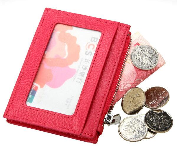 【喜番屋】日韓版真皮牛皮男女通用輕薄卡片夾卡片包卡片套卡夾卡包卡套皮夾皮包錢夾零錢包男夾女夾CB113