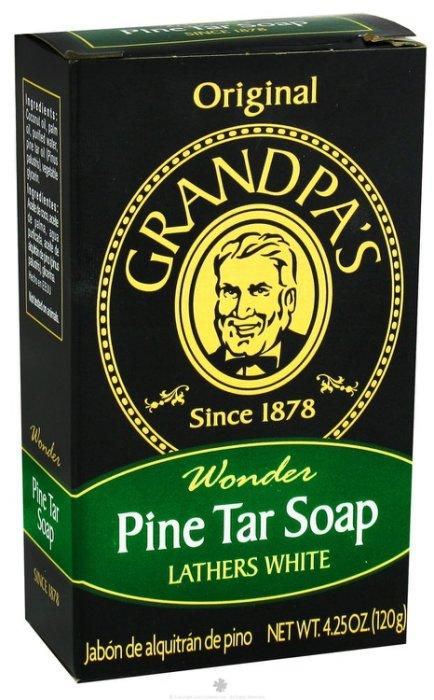 【彤彤小舖】Grandpa s 松焦油香皂 120g 沐浴洗髮 刮鬍多用途香皂