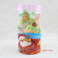 小熊維尼周邊商品推薦【0216零食會社】日日旺-歡樂聖誕糖花Q皮糖(10支入)100g