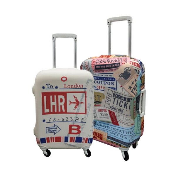 【加賀皮件】 HAPITAS 旅行箱套 M號 多款式 彈性佳 可伸縮 收納方便 旅行箱套 HAP7037