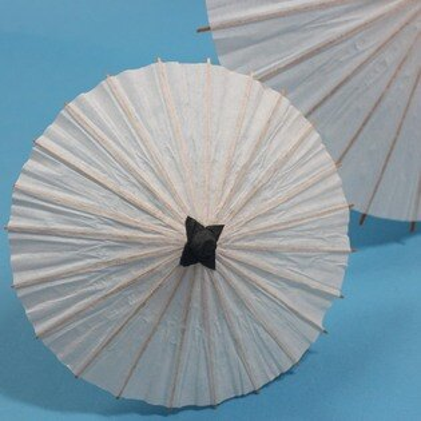20cm空白紙傘 小DIY白色綿紙傘 彩繪紙傘 MIT製/一支入{促30}