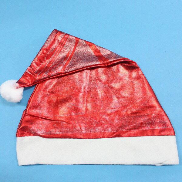 聖誕帽 亮光大紅色布聖誕帽^(大亮紅色^) 一袋12個入^~促40^~^~NG  ~  好