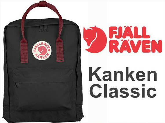 瑞典 FJALLRAVEN KANKEN  Classic 550-326 Black & Ox Red 黑/公牛紅 小狐狸包