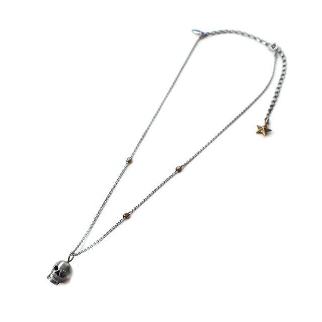 【海外訂購】【amp japan】聖骷髏不鏽鋼串珠項鍊(AMP-12AH-154  0596940000) 2