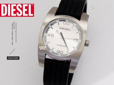 【完全計時】手錶館│DIESEL 銀面豪邁皮帶錶款 個性時尚表露無遺 DZ4055 m 真小牛皮經典動物紋 37mm