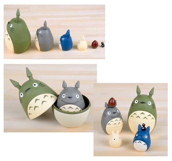 TOTORO 龍貓 俄羅斯娃娃 可遊戲 擺飾 也可當文具收納喔 日本帶回 正版