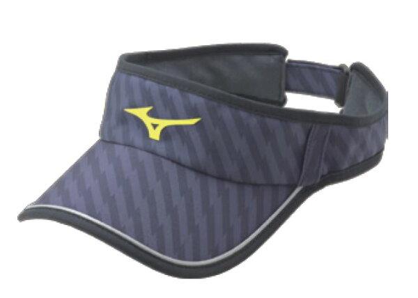 [陽光樂活]MIZUNO 美津濃 女運動路跑空心帽 可調節式 吸汗速乾 眼鏡插座 J2TW620409 黑