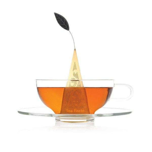 Tea Forte 23K鍍金金字塔型茶包濾茶器 Icon Au Gold Loose Tea Infuser 2