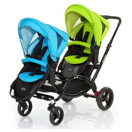 ABC Design - Zoom 雙人嬰幼兒手推車 (天空藍綠款)