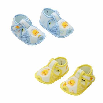 【悅兒樂婦幼用品舘】Piyo 黃色小鴨 格狀嬰兒學步涼鞋