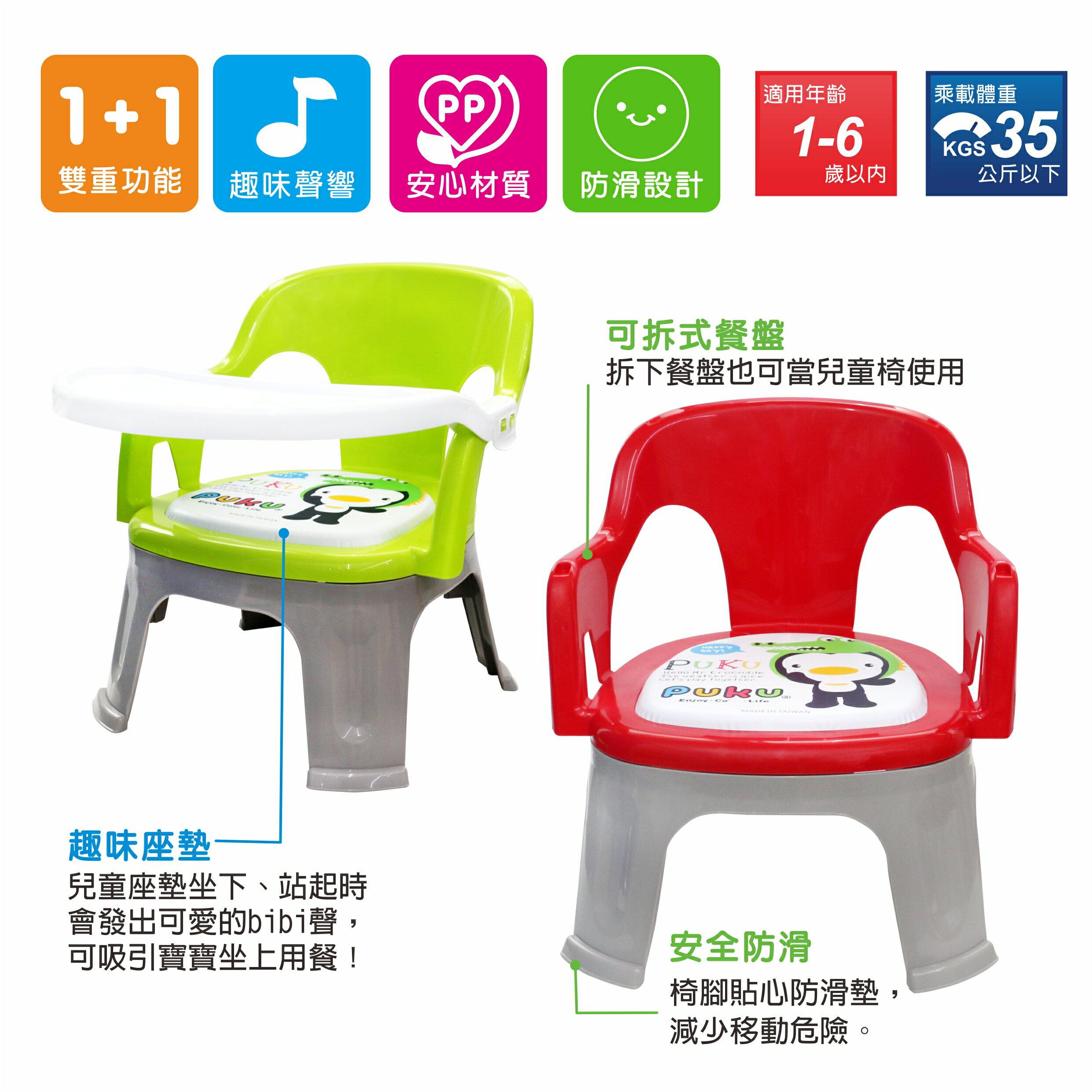 『121婦嬰用品館』PUKU Crocodile小鱷魚餐盤BB椅 - 紅 3