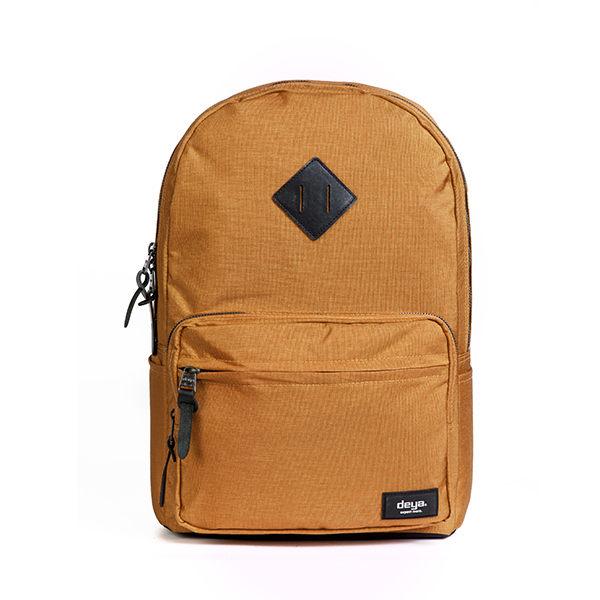 後背包 -馬德里休閒後背包-黃褐色-可同時裝14.1吋筆電與iPad 台灣製造 - 限時優惠好康折扣