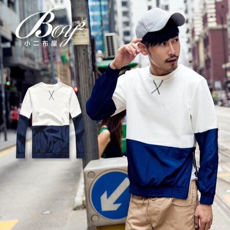 ☆BOY-2☆【NQ96012】韓版領口交叉撞色側拉鍊長T 0
