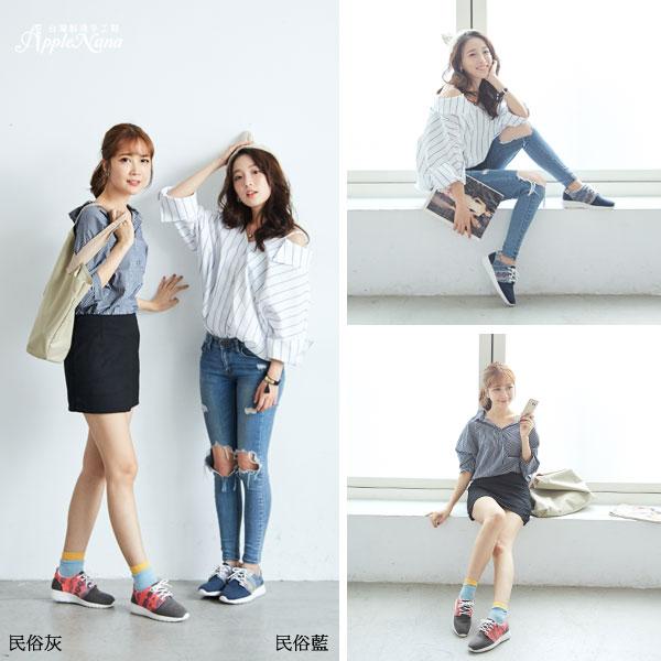 AppleNana。外銷日本波希米亞運動風氣墊休閒鞋【QT30011180】蘋果奈奈 2