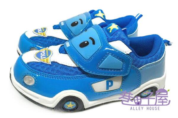 【巷子屋】POLI 波力 男童汽車造型電燈運動休閒鞋 [41906] 藍 超值價$198