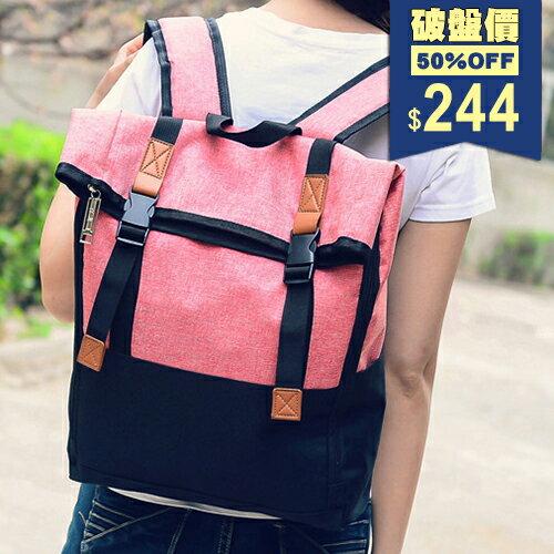 極簡大容量牛津布電腦包 兩用後背包 包飾衣院 P1764 現貨+預購