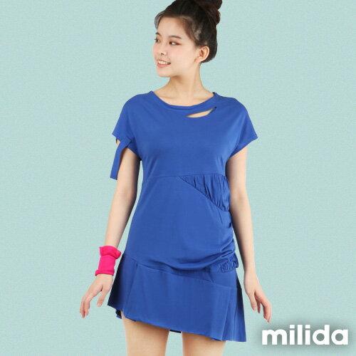 【milida】☆早春商品☆短版洋裝☆胸前挖洞造型設計