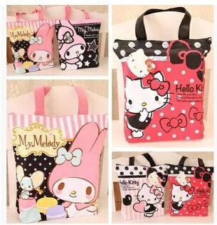 帆布包 Hello Kitty可愛帆布購物袋 手提包 帆布袋 課輔袋 單肩包【包包阿者西】