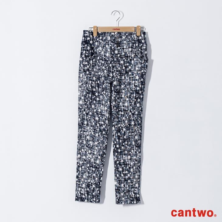 cantwo星星磨毛感中腰小直筒褲(共兩色) 6