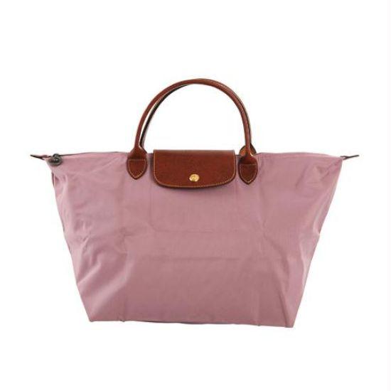 [1623-M號] 國外Outlet代購正品 法國巴黎 Longchamp 短柄 購物袋防水尼龍手提肩背水餃包 藕粉色