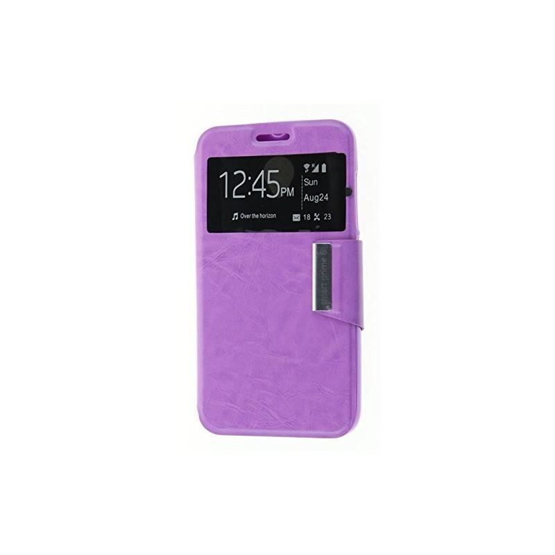 Funda CUERO Tipo LIBRO VENTANA Stand Vodafone Smart Prime 6 / Alcatel One Touch Pop 2 (5) 5