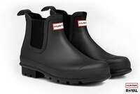 下雨天推薦雨靴/雨傘/雨衣推薦Hunter Boots 新竹皇家 Original Dark Sole Chelsea Boots 黑色 霧面 短雨靴 女款 NO.I5875