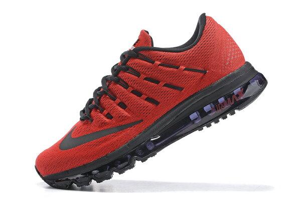 NIKE Air Max 2016 男生氣墊慢跑鞋 運動鞋 全掌氣墊男子鞋 (紅黑40-45)