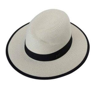 50%OFF【E013123SWH】帽子女夏天草帽大沿遮陽帽太陽帽防曬沙灘帽女士戶外休閒禮帽