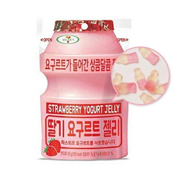 韓國7-11限定 lotte 樂天 草莓養樂多軟糖 50g/包 多多 養樂多糖 養樂多軟糖 ♦ 樂荳城 ♦